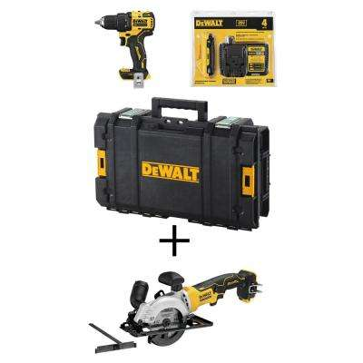 ATOMIC 20-Volt MAX Brushless Cordless 1/2 in. Drill/Driver Kit w/ Tough System Toolbox w/ Bonus Bare 4-1/2 in. Circ Saw