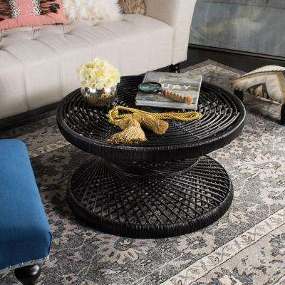 Grimson Large Bowed Black Coffee Table