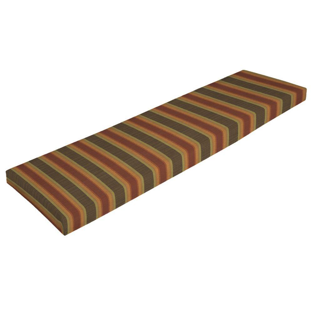 Arden Sunbrella Dimone Sequoia Bench Cushion-DISCONTINUED