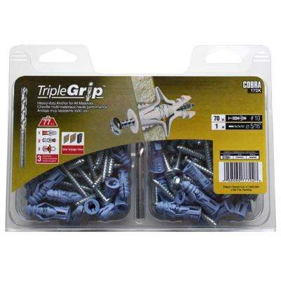 #10 1-1/2 in. Anchors with Screws (70-Pack)