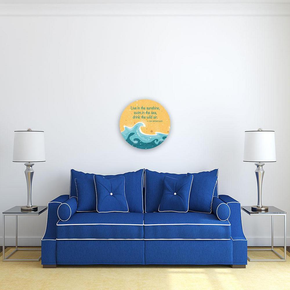 Live Swim Drink Steel Motivational Wall Art