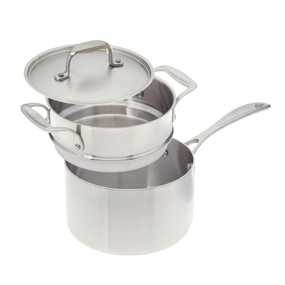 American Kitchen 3 Qt. Premium Stainless Steel (Silver) S...