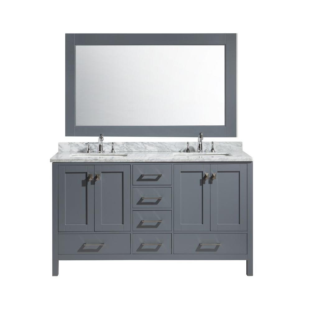 vanity mirror 36 x 60. W x 22 in  D 36 Design Element London 54 H Vanity