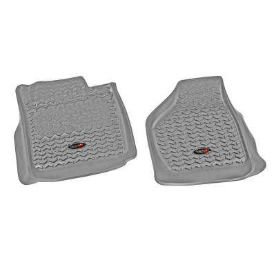 Floor Liner Front Pair Gray 2008-2010 Ford F250/350 Pickup