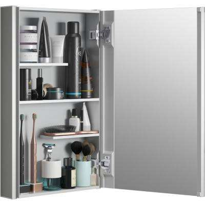 Maxstow 15 in. x 24 in. Frameless Surface-Mount Aluminum Medicine Cabinet