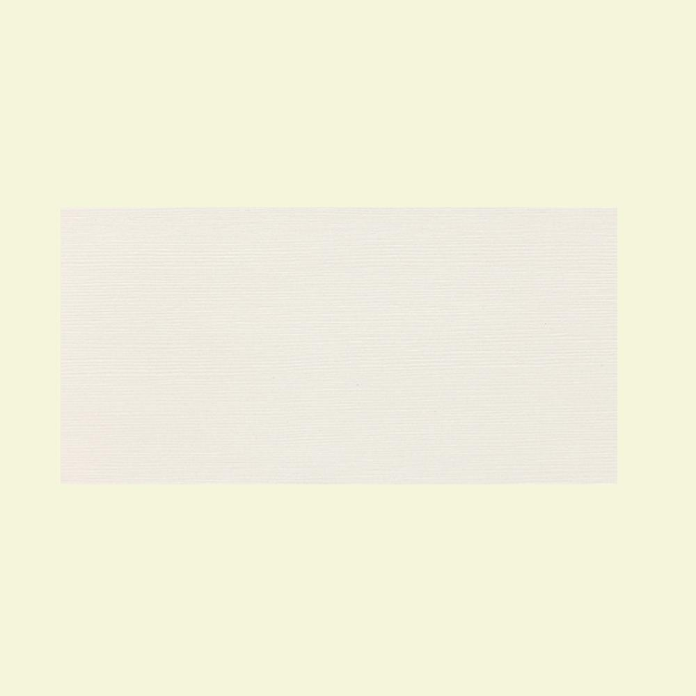 Daltile Identity Paramount White Grooved 12 in. x 24 in. Porcelain Floor and Wall Tile (11.62 sq. ft. / case)-DISCONTINUED