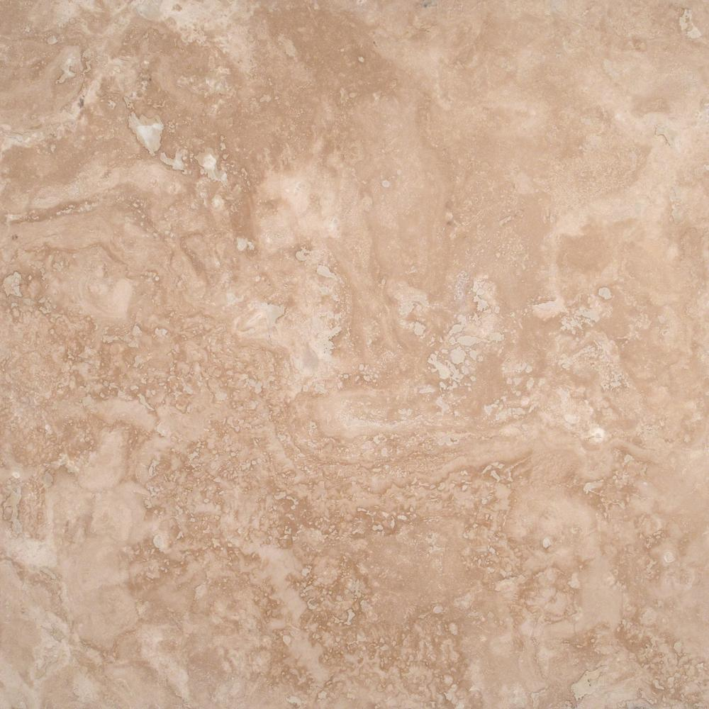 Durango Cream 18 in. x 18 in. Honed Travertine Floor and