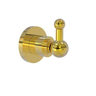 Astor Place Collection Wall-Mount Robe Hook in Polished Brass