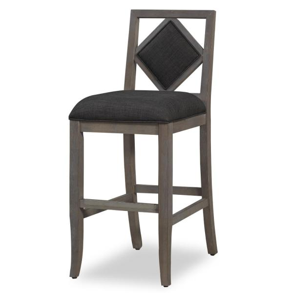 American Woodcrafters Janley 26 in. Drift Grey Stationary Counter Stool