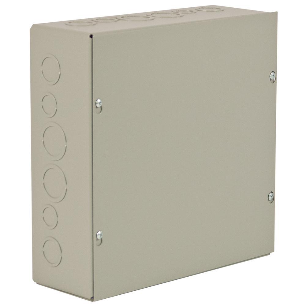 NEMA 1 12 in. x 12 in. 4 in. Carbon Steel Screw Cover Wall-Mount
