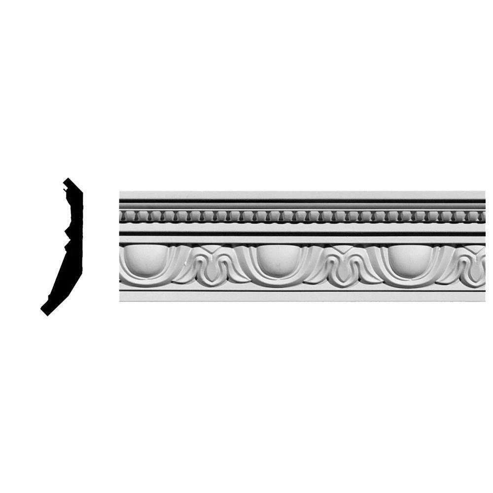 Ekena Millwork 2-3/8 in. x 4 in. x 94-5/8 in. Polyurethane Edinburgh Crown Moulding