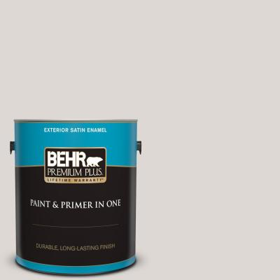 Behr Premium Plus 1 Gal 720b 4 Desert Echo Satin Enamel Exterior Paint And Primer In One 940001 The Home Depot
