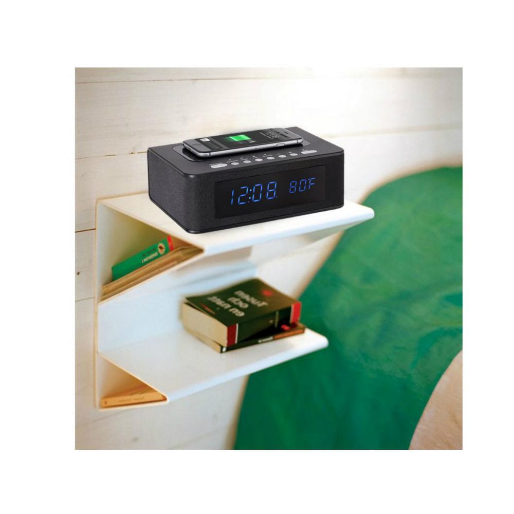 SXE Wireless Charging Bluetooth Speaker Clock Radio with Alarm by SXE