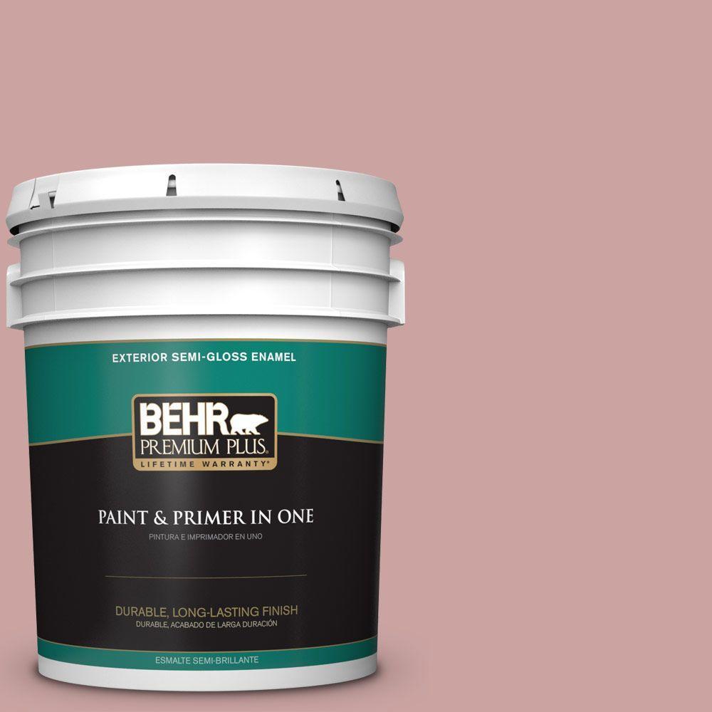 BEHR Premium Plus 5-gal. #160E-3 Rose Potpourri Semi-Gloss Enamel Exterior Paint
