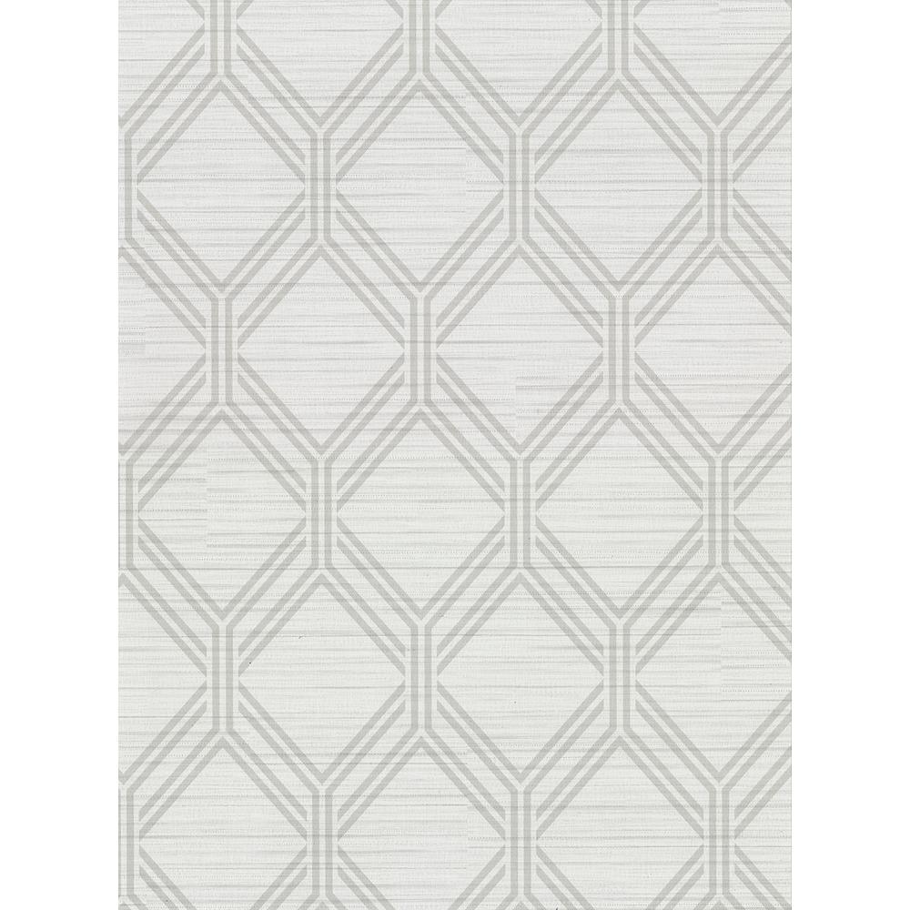 Warner 60 8 Sq Ft Vaughan Light Grey Geometric Wallpaper 2910 2729 The Home Depot
