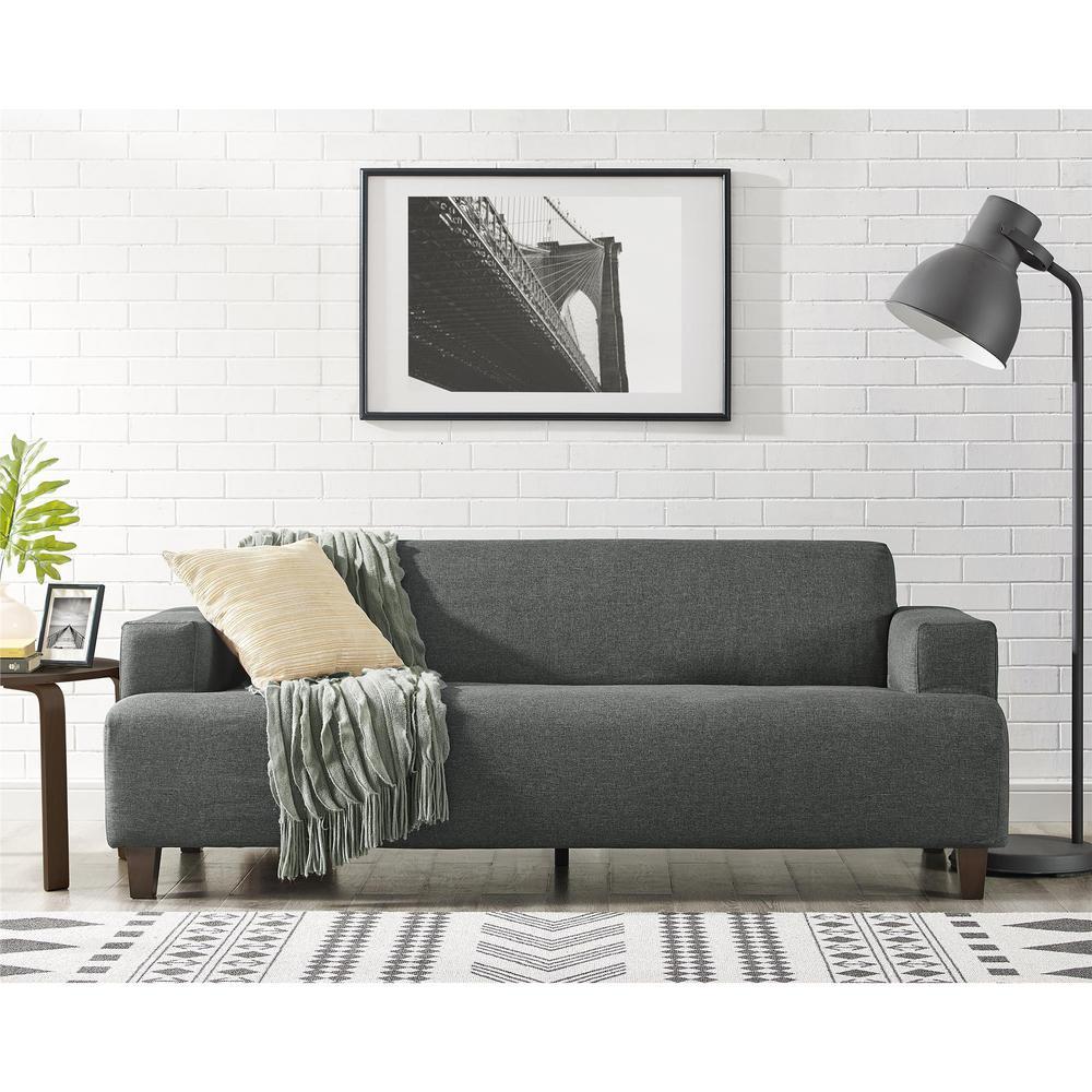 Beautiful Dorel Living Novogratz Hanna Gray Linen Sofa