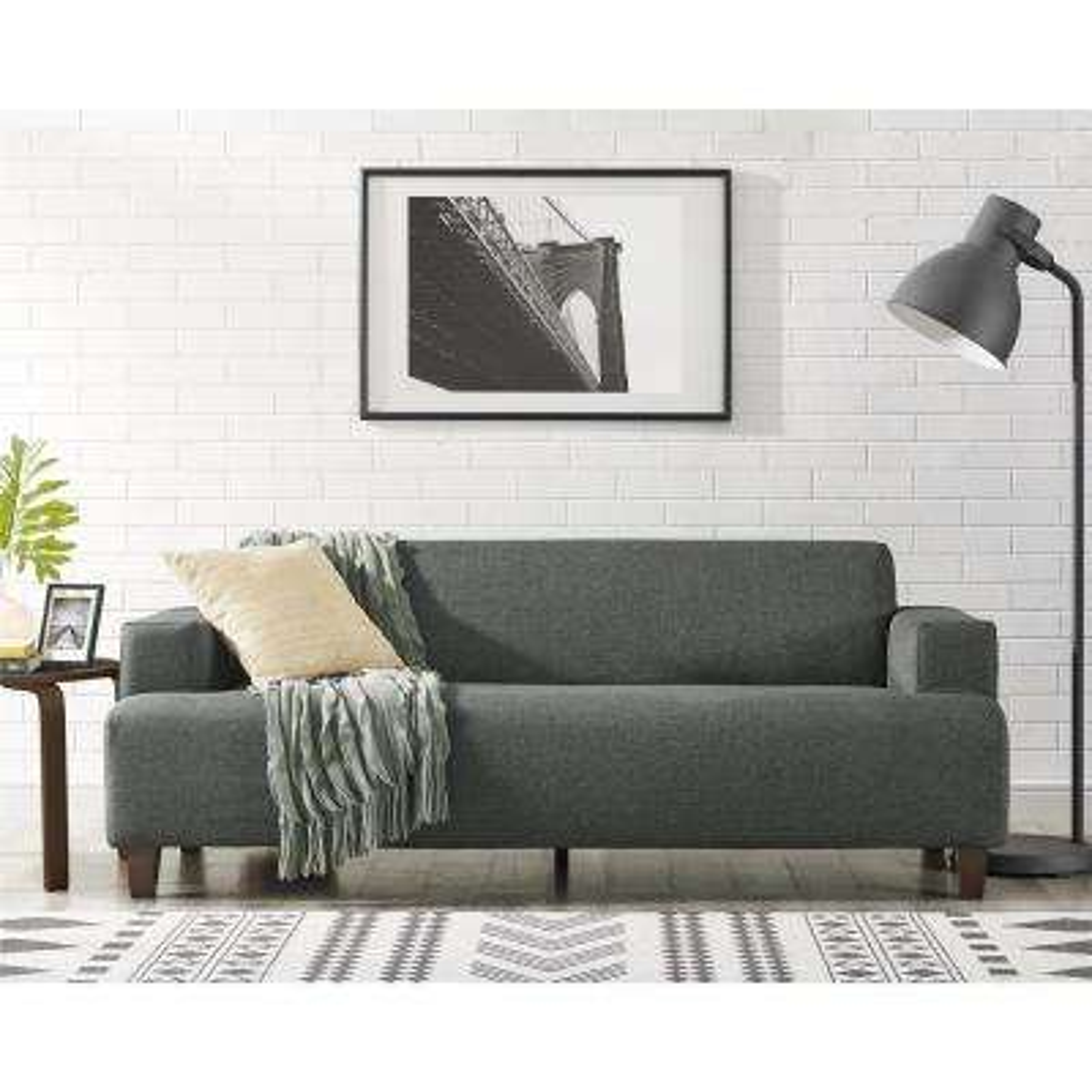 Novogratz Hanna Gray Linen Sofa