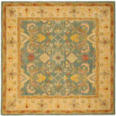 Anatolia Light Blue Ivory 8 Ft X Square Area Rug