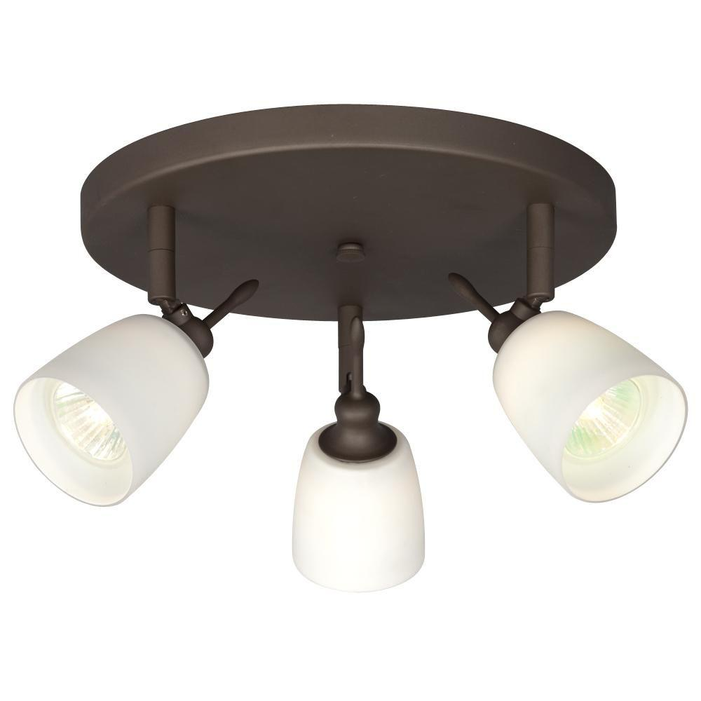 Negron 3-Light Oil-Rubbed Bronze Track Head Spotlight with Directional Heads