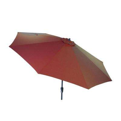 10 ft. Aluminum Market Patio Umbrella in Quarry Red with Auto Tilt