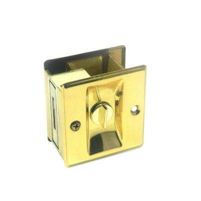 Brass Pocket Door Privacy Lock