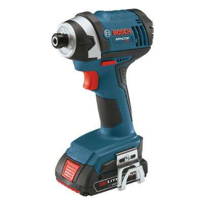 18 Volt Lithium-Ion Cordless 1/4 in. Hex Compact Tough Variable Speed Impact Driver Kit with (2) 2.0Ah Batteries