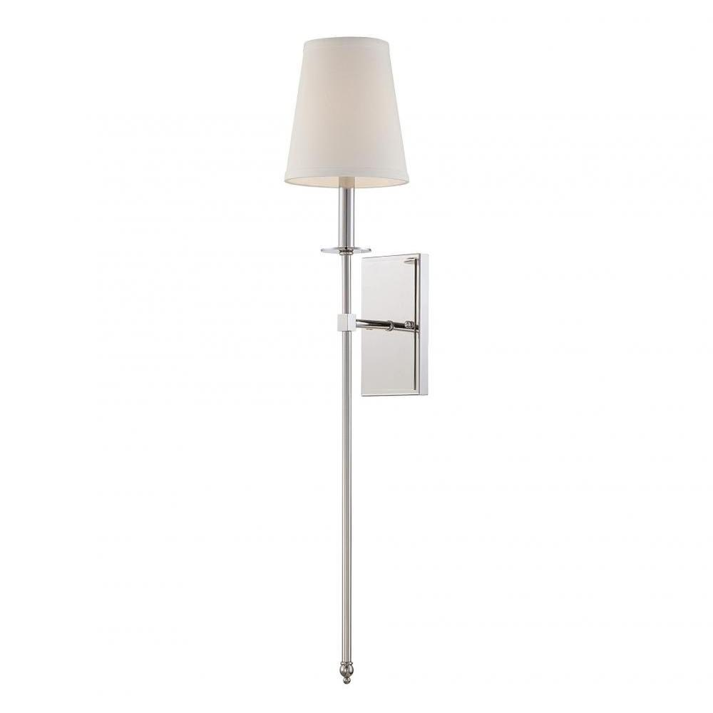 Capo Polished Nickel Wall Sconce