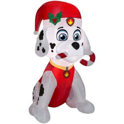 holiday 3 ft h x 164 ft w inflatable marshall the fire pup with - Paw Patrol Christmas Decorations