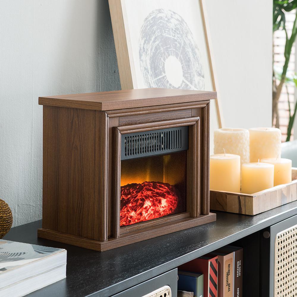 Hampton Bay 13 5 In Desktop Electric Fireplace In White Sp5970