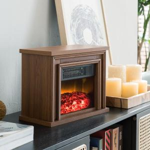 Hampton Bay 13 5 In Desktop Electric Fireplace In Oak