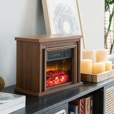 13.5 in. Desktop Electric Fireplace in Oak
