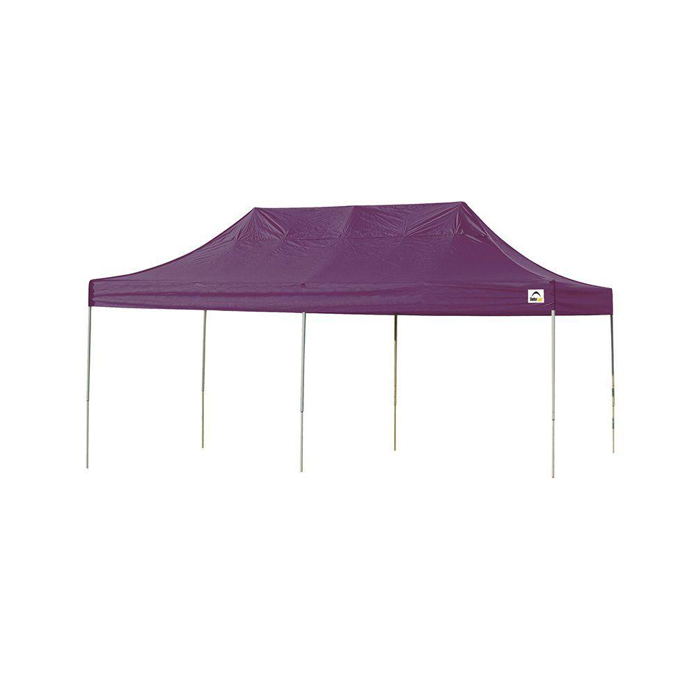 10 ft. x 20 ft. Straight Leg Pop-Up Canopy Purple Cover