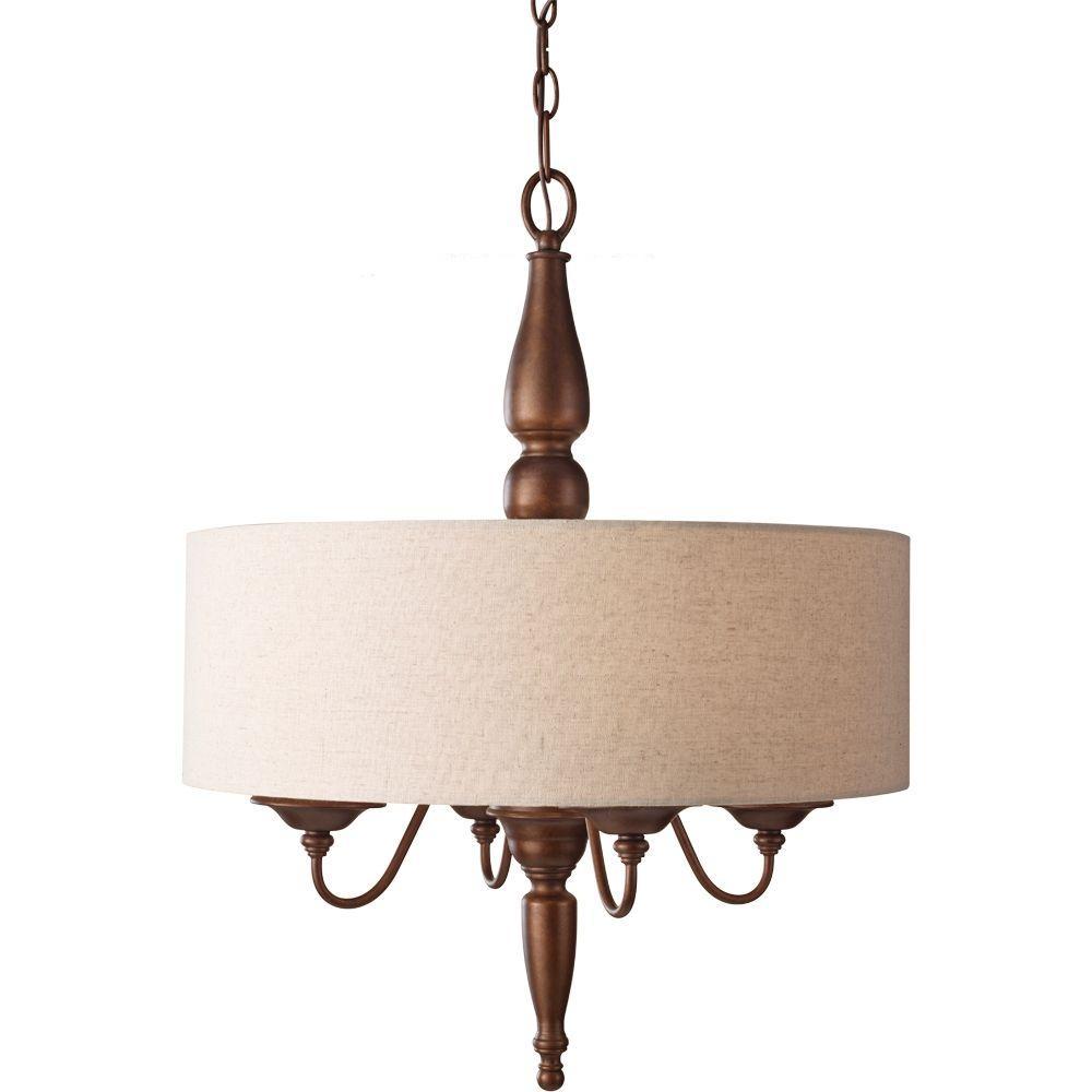 Feiss Yorktown Heights 4-Light Prescott Bronze Large Pendant