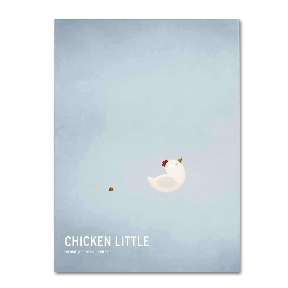 16 in. x 24 in. Chicken Little Canvas Art