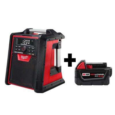 M18 Lithium-Ion Cordless Jobsite Radio/Charger with Free M18 5.0 Ah Battery