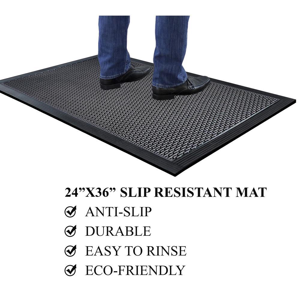 A1HC Capsule Studs 24 in. x 36 in. Rubber Clean Step Scraper Floor Mat