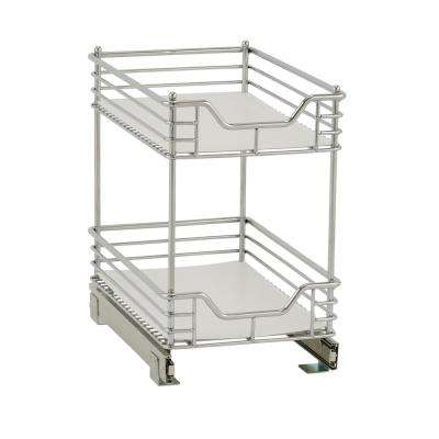 11.5 in. Chrome 2-Tier Standard Organizer with White Liner