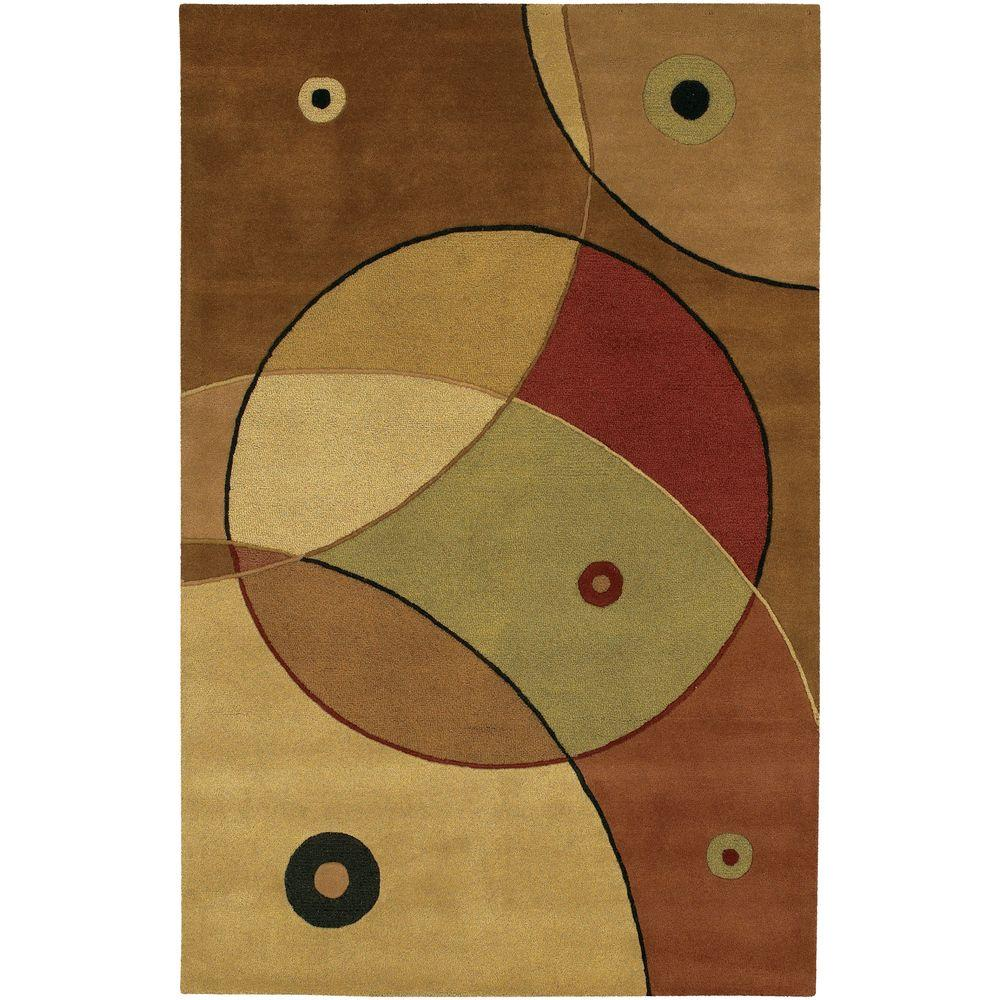 Chandra Antara Gold/Brown/Green/Burgundy 5 ft. x 7 ft. 6 in. Indoor Area Rug
