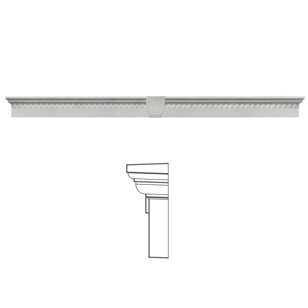 6 in. x 73 5/8 in. Classic Dentil Window Header with