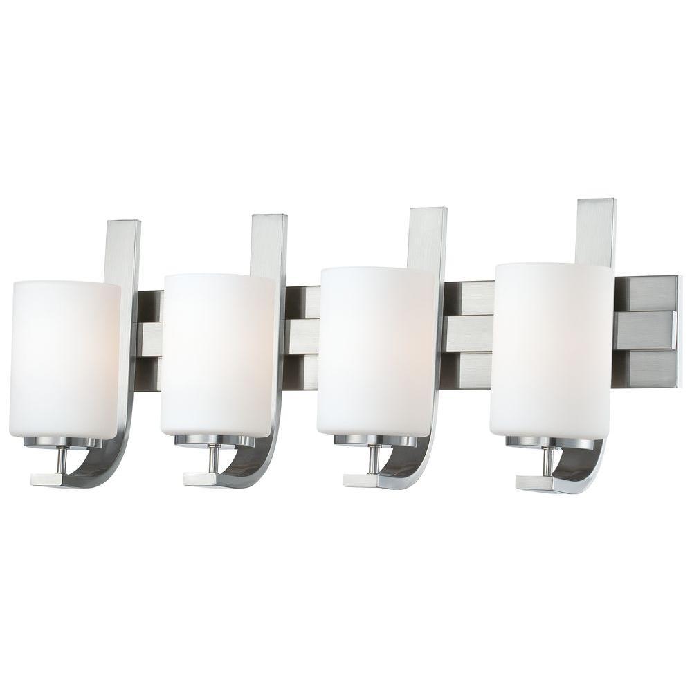 Pendenza 4-Light Brushed Nickel Wall Vanity Light
