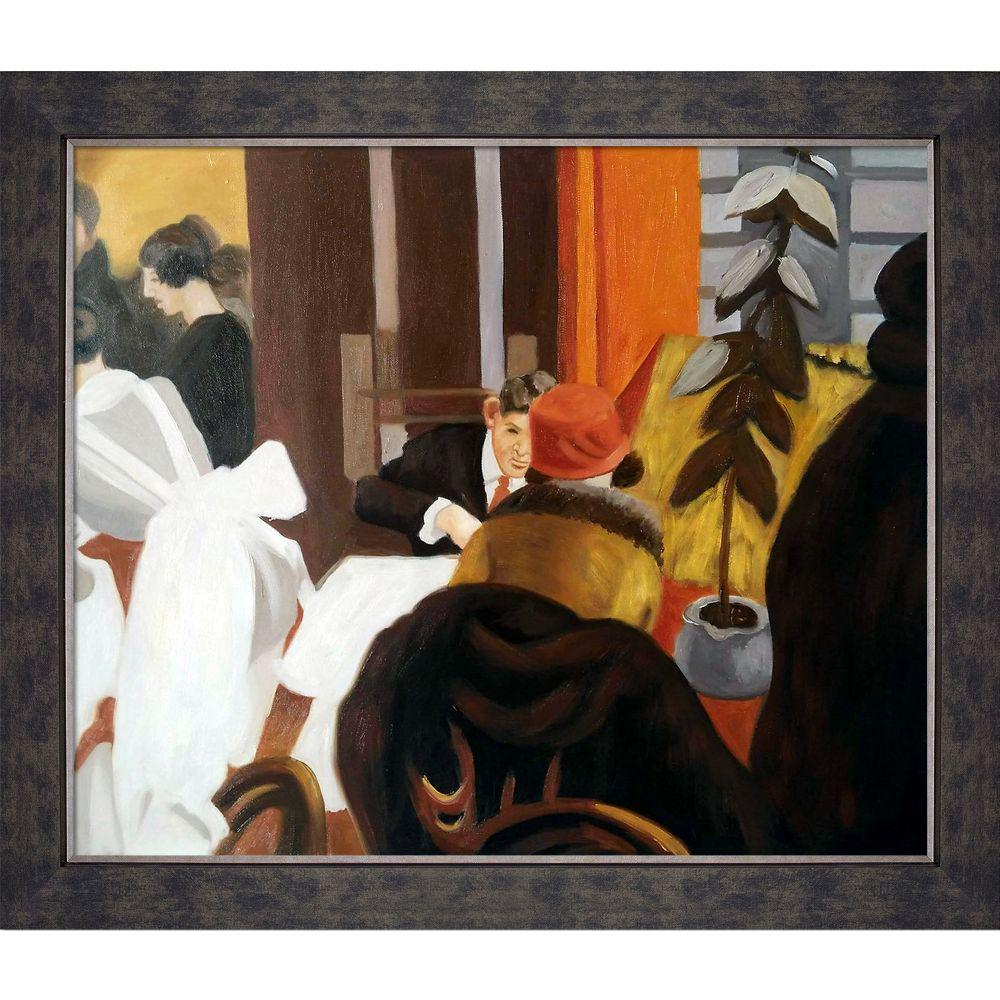LA PASTICHE New York Restaurant with Suede Premierby Edward Hopper Framed Abstract Wall Art 24 in. x 28 in., Multi-Colored was $1067.0 now $416.23 (61.0% off)