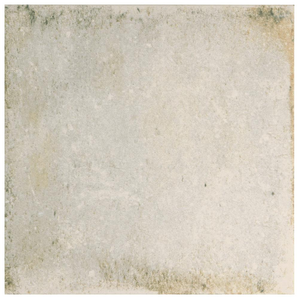 D'Anticatto Bianco 8-3/4 in. x 8-3/4 in. Porcelain Floor and Wall