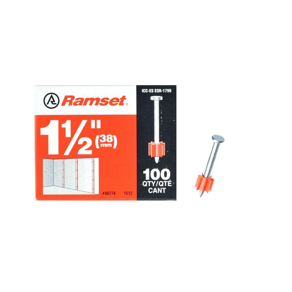 Ramset 1-1/2 in. Drive Pins (100-Pack)
