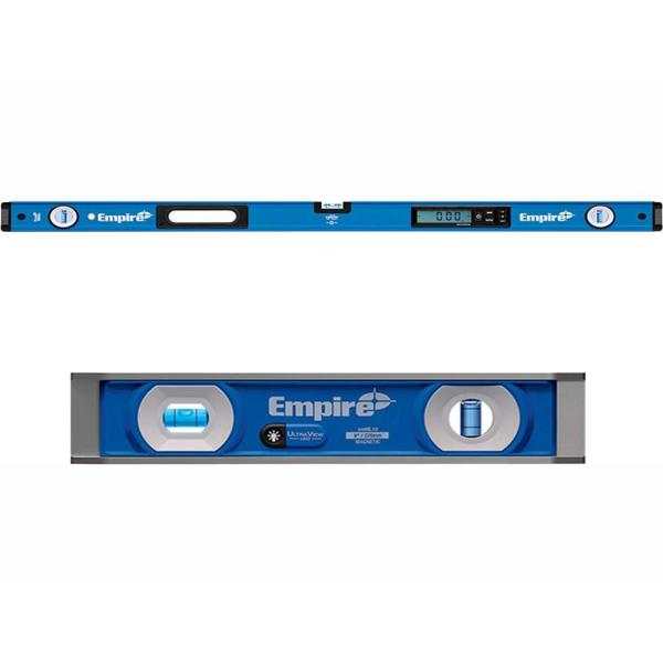 48 in. True Blue Digital Level with UltraView LED 9 in. Torpedo Level