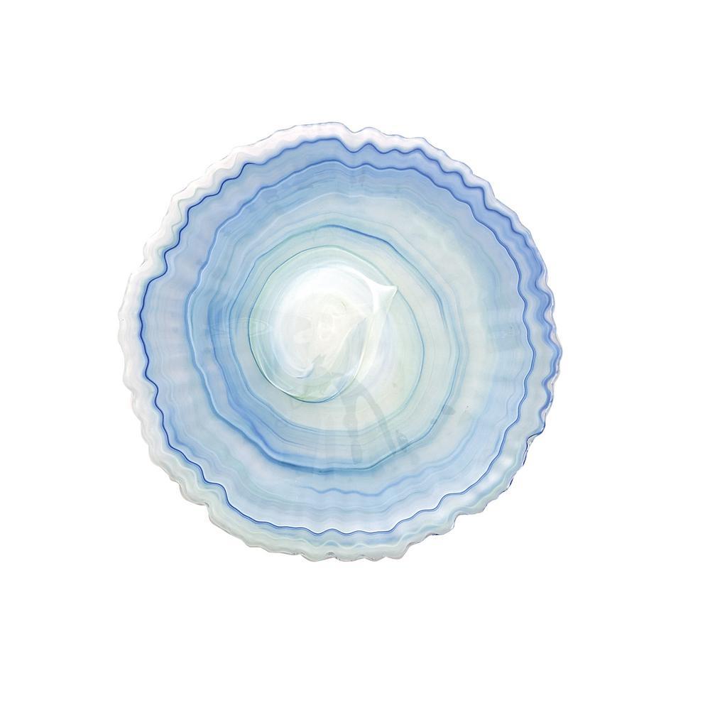 Alabaster Glass Mist Blue Salad Plate (Set of 4)