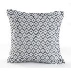 Geometric Navy and White Geometric Hypoallergenic Polyester 18 in. x 18 in. Throw Pillow