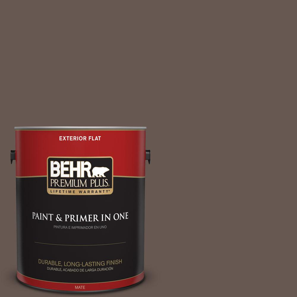 1 gal. #HDC-FL14-10 Pine Cone Brown Flat Exterior Paint