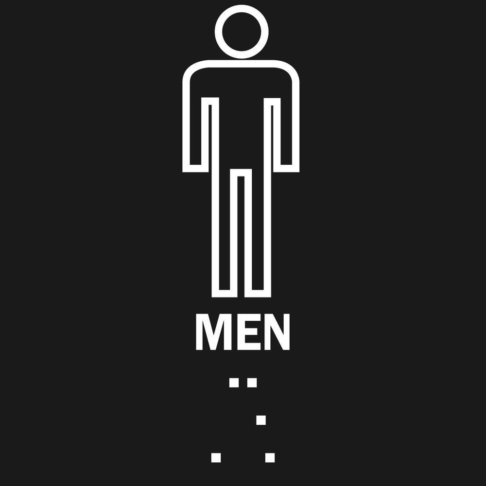 8 in. x 8 in. Plastic Braille Men's Restroom Sign