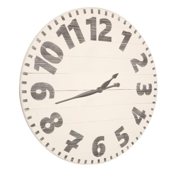 24 in. Oversized White Industrial Style Wall Clock