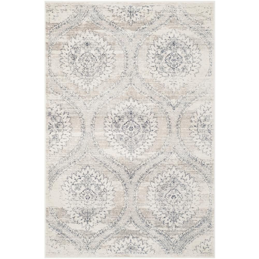 Safavieh Carnegie Light Gray Cream 4 Ft X 6 Area Rug
